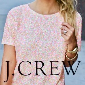 NWT J. Crew Sequin Tee Size Medium